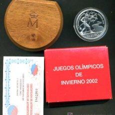Euros: SET ESTUCHE 10 EUROS PLATA , PROOF , JUEGOS OLIMPICOS INVIERNO 2002 . ORIGINAL FNMT. Lote 118204380