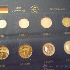 Euros: MONEDAS DE EURO DE ALEMANIA,HAMBURGO 2002.SIN CIRCULAR.SIN LA HOJA DEL ALBUM.. Lote 27548473