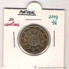 Euros: 50 CENTIMOS DE EURO DE PORTUGAL DEL 2003 - SIN CIRCULAR. Lote 21835816