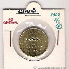 Euros: 50 CENTIMOS DE EURO DE ALEMANIA DEL 2002- F - SIN CIRCULAR. Lote 21835887