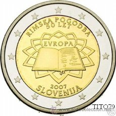 Euros: ESLOVENIA 2 EUROS 2007 TRATADO DE ROMA. Lote 229141000