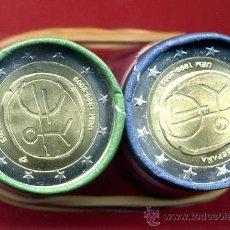 Euros: LOTE DE 25 MONEDAS DE 2 EUROS 2009 ESPAÑA EMU ,ESTRELLAS GRANDES (VARIANTE) EN CARTUCHO, RB. Lote 143405602