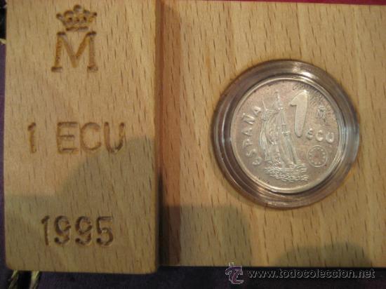 MONEDA DE 1 ECU PLATA MARINA ESPAÑOLA 1995 (Numismática - España Modernas y Contemporáneas - Ecus y Euros)