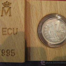 Euros: MONEDA DE 1 ECU PLATA MARINA ESPAÑOLA 1995. Lote 24549556