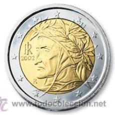Euros: MONEDA 2 EUROS ITALIA 2002 - DANTE - SIN CIRCULAR - . Lote 28313284
