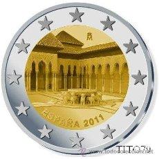 Euros: ESPAÑA 2 EUROS 2011 LA ALHAMBRA DE GRANADA. Lote 235495965