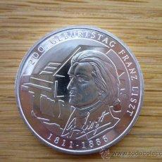 Euros: MONEDA CONMEMORATIVA MÚSICO LISZT- ALEMANIA 10 EUROS PLATA 2011 - CECA G - SC. Lote 27106861