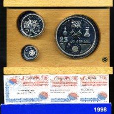 Euros: SERIE COMPLETA DE PLATA - EUROS 1998 - 1, 5 Y 25 EUROS. Lote 26368827