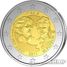Euros: BELGICA 2 EUROS 2011 DIA INTERNACIONAL MUJER TRABAJADORA. Lote 278700463