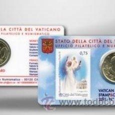 Euros: VATICANO 2011 COIN CARD + SELLO DE LA BEATIFICACION DE JUAN PABLO II. Lote 203089286
