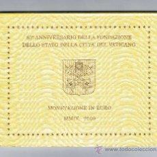 Euros: VATICANO 2009 CARTERA OFICIAL. Lote 28495685