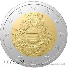 Euros: ESPAÑA 2 EUROS 2012 10º ANIV. EURO. Lote 224623332
