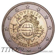 Euros: ESLOVENIA 2 EUROS 2012 10º ANIVERSARIO DEL EURO. Lote 210592940
