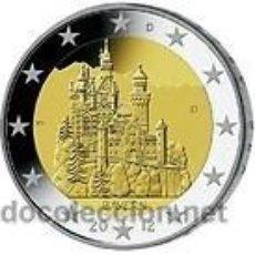 Euros: ALEMANIA 2 EUROS 2012 CASTILLO DE NEUSCHWANSTEIN CECA F ( STUTTGART ). Lote 114386512