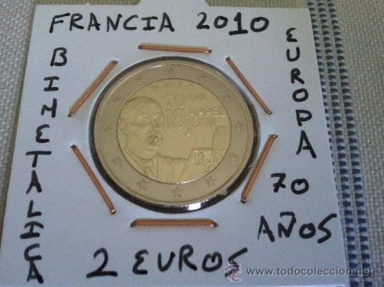Moneda De Francia 2010 De 2 Euros 70 Ans 18 Ap Comprar Monedas