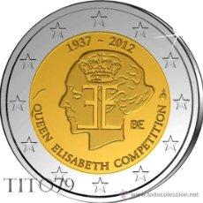 Euros: BELGICA 2 EUROS 2012 75º ANIV. CONCURSO MUSICAL REINA ELISABETH. Lote 278700233