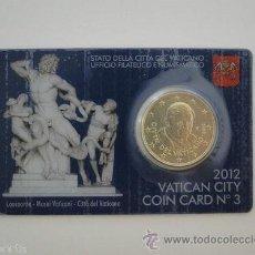 Euros: VATICANO 2012 COINCARD Nº3. Lote 168377970