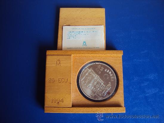 (ON-13)MONEDA DE 25 ECU DE PLATA PESO TOTAL 168,75 GRS.CERVANTES-DON QUIJOTE 1994 (Numismática - España Modernas y Contemporáneas - Ecus y Euros)