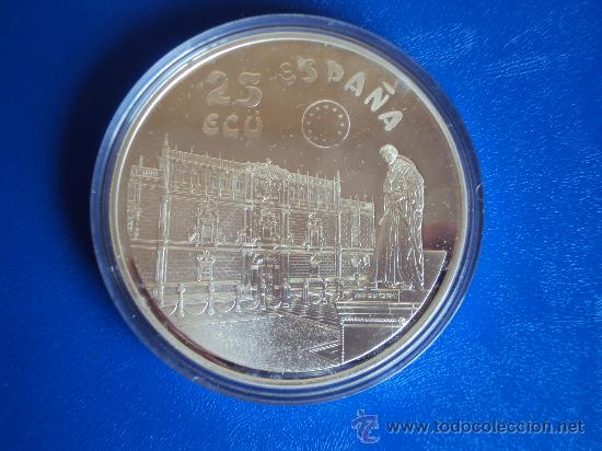 Euros: (ON-13)MONEDA DE 25 ECU DE PLATA PESO TOTAL 168,75 GRS.CERVANTES-DON QUIJOTE 1994 - Foto 2 - 35203225