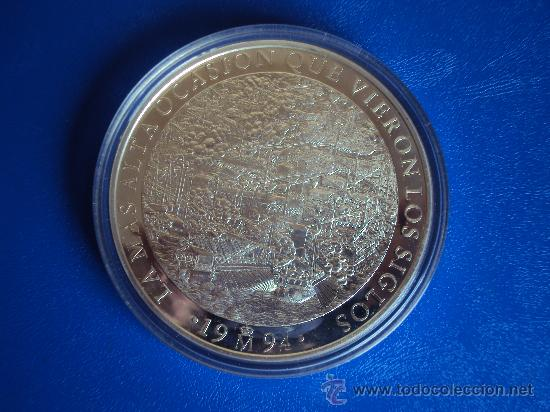 Euros: (ON-13)MONEDA DE 25 ECU DE PLATA PESO TOTAL 168,75 GRS.CERVANTES-DON QUIJOTE 1994 - Foto 3 - 35203225