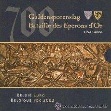 Euros: CARTERA BELGICA 2002. Lote 33684896