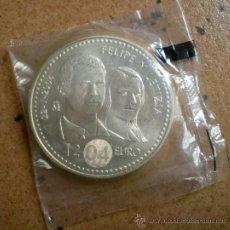 Euros: MONEDA 12 EUROS PLATA FELIPE Y LETICIA 2004. Lote 34064641