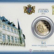 Euros: LUXEMBURGO 2012. COINCARD 2€ CONMEMORATIVA GUILLERMO IV. Lote 34554739