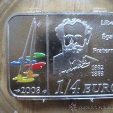 Euros: LINGOTE DE PLATA 1/4 DE EURO 2008 CALIDAD PROOF. Lote 34624151