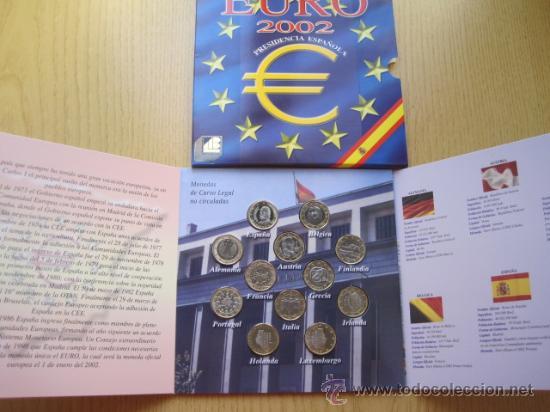 12 MONEDAS DE EURO 1 POR PAIS 2002 CON ZAFIRO ESPECIAL REGALO CALIDAD PROOF (Numismática - España Modernas y Contemporáneas - Ecus y Euros)