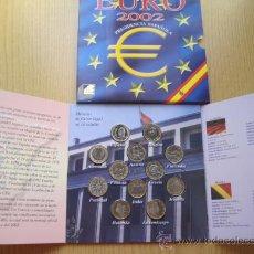 Euros: 12 MONEDAS DE EURO 1 POR PAIS 2002 CON ZAFIRO ESPECIAL REGALO CALIDAD PROOF. Lote 34627917
