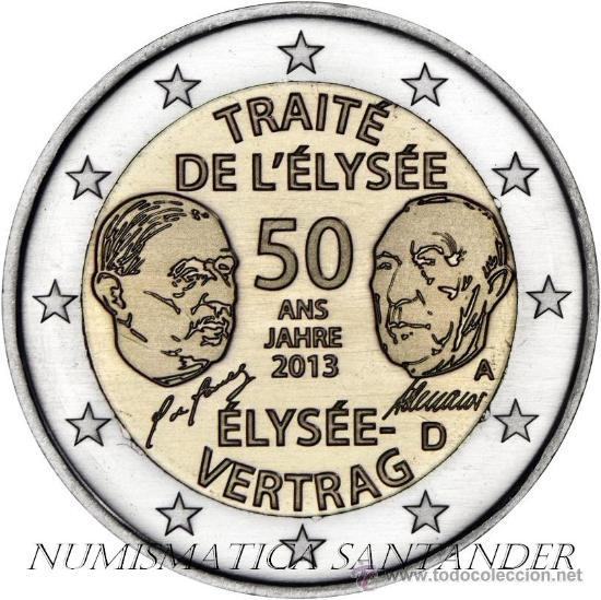 ALEMANIA 2 EUROS 2013 50 AÑOS TRATAO DE ELYSEO CECA D ( MUNICH ) (Numismática - España Modernas y Contemporáneas - Ecus y Euros)