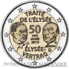 Euros: ALEMANIA 2 EUROS 2013 50 AÑOS TRATAO DE ELYSEO CECA J ( HAMBURGO ). Lote 172570330
