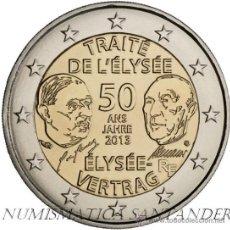 Euros: FRANCIA 2 EUROS 2013 50 AÑOS TRATADO DE ELYSEO. Lote 187451436