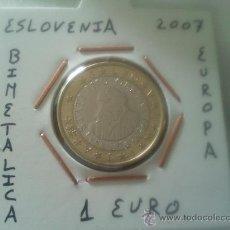 Euros: MONEDA 1 EURO DE ESLOVENIA DEL AÑO 2007 MBC ENCARTONADA. Lote 52994323
