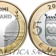 Euros: FINLANDIA 5 EUROS 2012 REGIÓN DE UUSIMAA CATEDRAL DE HELSINKI Y DE USPENSI. Lote 35686793