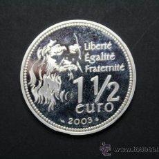 Euros: MONEDA EURO DE PLATA FRANCIA 2003 MONA LISA 5º CENTENARIO LEONARDO DA VINCI - 1,50 €UROS - . Lote 35756521