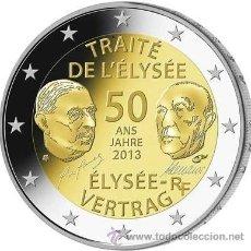 Euros: FRANCIA 2013 CONMEMORATIVA TRATADO DEL ELYSEO. Lote 124533738