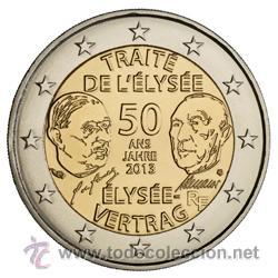 FRANCIA 2013. 2 EUROS DEL 50 ANIVERSARIO DEL TRATADO DEL ELISEO. (Numismática - España Modernas y Contemporáneas - Ecus y Euros)