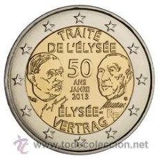 Euros: FRANCIA 2013. 2 EUROS DEL 50 ANIVERSARIO DEL TRATADO DEL ELISEO.. Lote 64409426