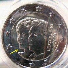 Euros: LUXEMBURGO 2009 2 EUROS CONMEMORATIVOS--HENRI Y CHARLOTTE (CON BARBA) S/C-CON EXCESO METAL. Lote 36591329