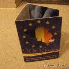 Euros: COINCARD CONMEMORATIVO OFICIAL 2 EUROS BÉLGICA 2005. Lote 37682892