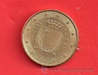 MONEDA EURO DE MALTA DE 0,10 DE EURO AÑO 2008 CIRCULADA (Numismática - España Modernas y Contemporáneas - Ecus y Euros)