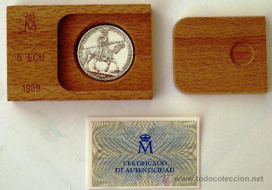 Euros: ESTUCHE MONEDA 5 ECU 1989 , ECUS, CARLOS V , PLATA PROF, ORIGINAL FNMT - Foto 6 - 38212029