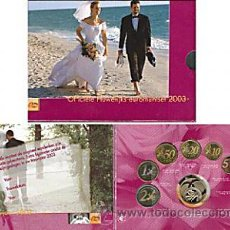 Euros: HOLANDA 2003 CARTERA OFICIAL BU MATRIMONIO SOLO 10.000 EJEMPLARES + MEDALLA. Lote 38414213