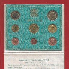 Euros: VATICANO 2013 CARTERA SERIE EUROS 8 VALORES ( ÚLTIMA EMISIÓN DE BENEDICTO XVI ). Lote 45513040
