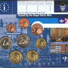 Euros: HOLANDA 2001 CARTERA OFICIAL BU - DINAMARCA 8 MONEDAS DE 1 CENTIMO A 2 EUROS. Lote 127800439