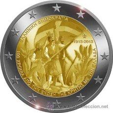 Euros: GRECIA 2 EUROS 2013 CENTENARIO DE LA UNION DE CRETA A GRECIA. Lote 233960590