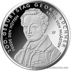 Euros: ALEMANIA 10 EUROS 2013 200 AÑOS DEL NACIMIENTO DE GEORG BÜCHNER. Lote 49105118