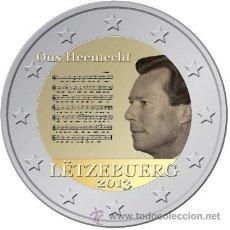 Euros: LUXEMBURGO 2 EUROS 2013 HIMNO NACIONAL. Lote 175232439