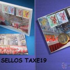 Euros: VATICANO 2013 CARTERA OFICIAL 2 EUROS SEDE VACANTE + SELLOS- NUMISBRIEF SOBRE FILATELICO NUMISMATICO. Lote 39852846